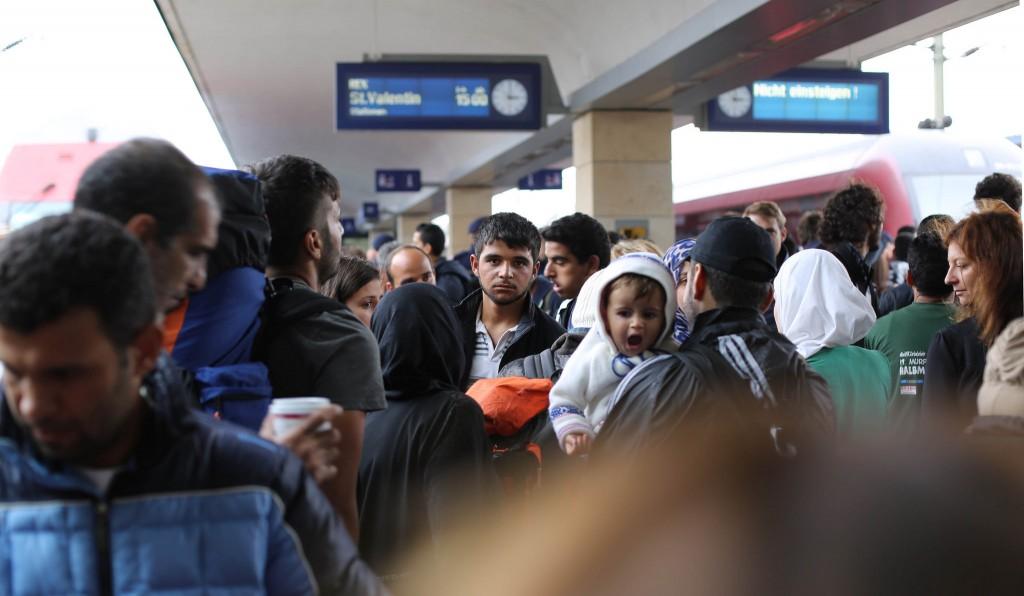 Syrští uprchlíci ve Vídni. Foto: Flickr (Josh Zakary)