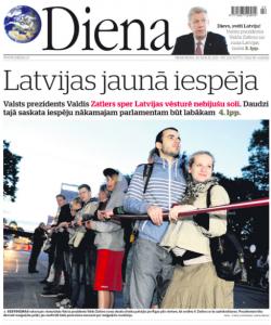 Lotyšské deník nestačí na časopisy. Deník Diena kles náklad o 70 procent