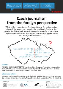 FOTO: Discussion about Czech Journalism