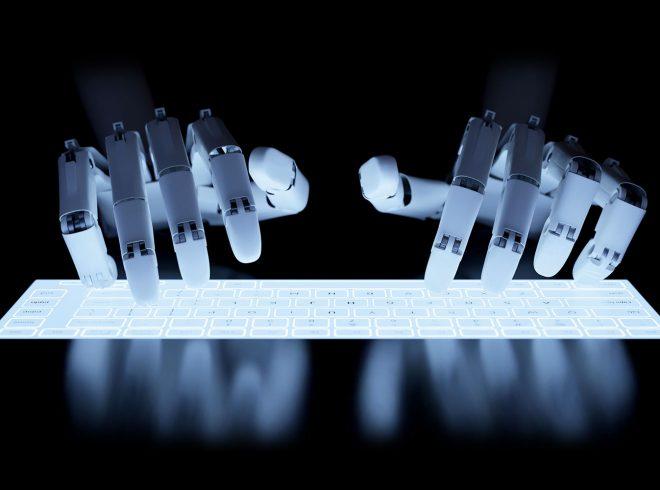 FOTO: Robot typer
