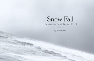Multimediální žurnalistika: Snow Fall