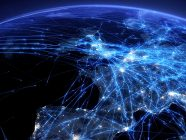 FOTO: Europe's air traffic network