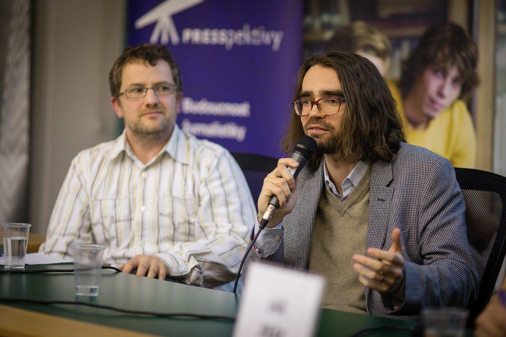 Marek Vranka během Rozprav o mazání internetového obsahu.