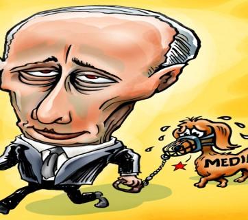 Ilustrace: V. Putin vs. média
