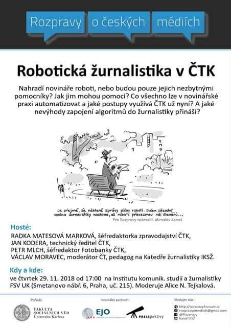 GRAFIKA: Rozpravy o robotické žurnalistice v ČTK