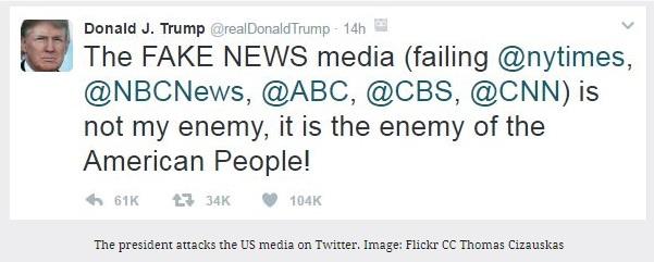 Twitterový účet Donalda Trumpu